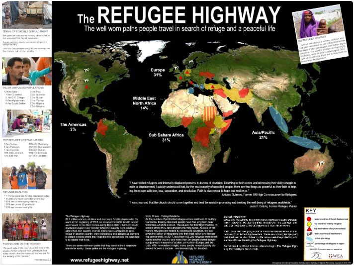 Refugee Highway Map
