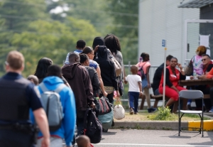 Haitian refugees at Quebec border